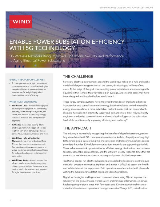 Enable Power Substation Efficiency with 5G Technology