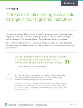4 Steps for Effective Change Management