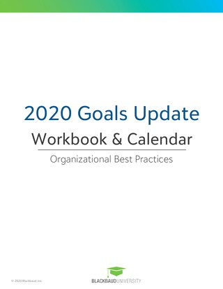2020 Organizational Goals Update | Workbook and Calendar