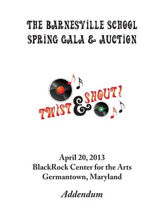 Gala & Auction 2013 Addendum