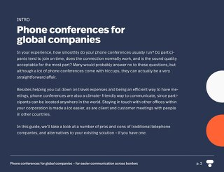 Phone conferences for global companies for easier communication across borders