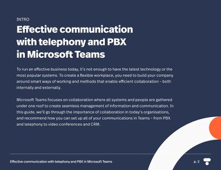 Effective communication with telephony and PBX in Microsoft Teams