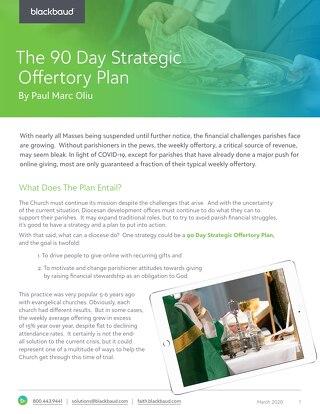 90 Day Strategic Offertory Plan