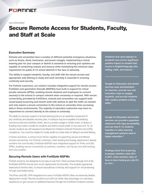 Secure Remote Access for Students, Faculty, and Staff at Scale