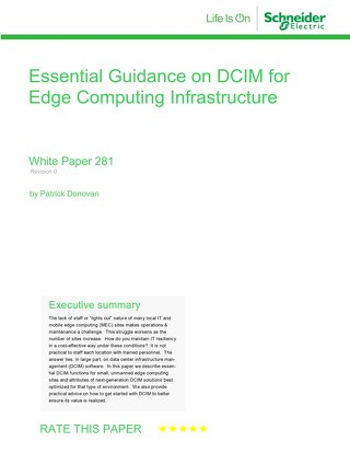 WP 281 Essential Guidance on DCIM for Edge Computing Infrastructure