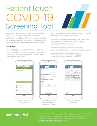 PatientTouch COVID-19 Screening Tool