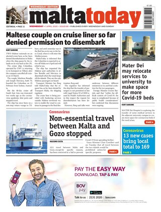 MaltaToday 1 April 2020 MIDWEEK