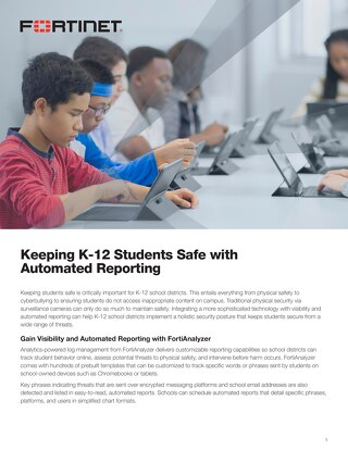 Keeping K-12 Students Safe with Automated Reporting