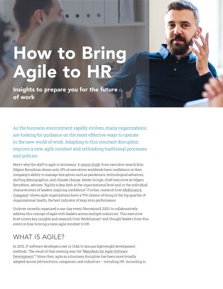 How to Bring Agile to HR