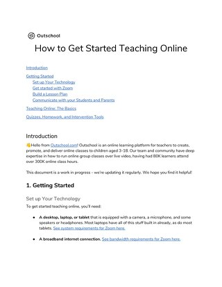 How to Get Started Teaching Online - Outschool