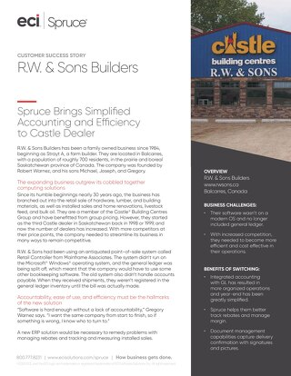 Spruce RW & Sons Builders Spruce Success Story