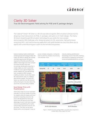 Clarity 3D Solver