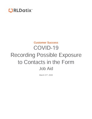 RL6: Job Aid for Possible Exposure to Contacts