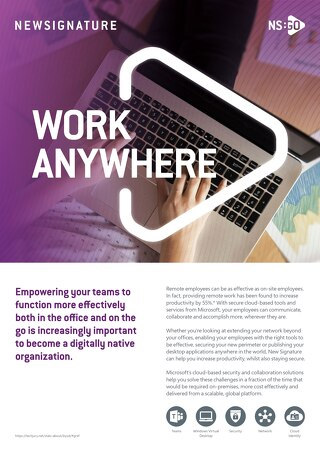 NS:GO Work Anywhere 2020 Flyer