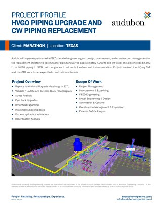 HVGO Piping Upgrade and CW Piping Replacement