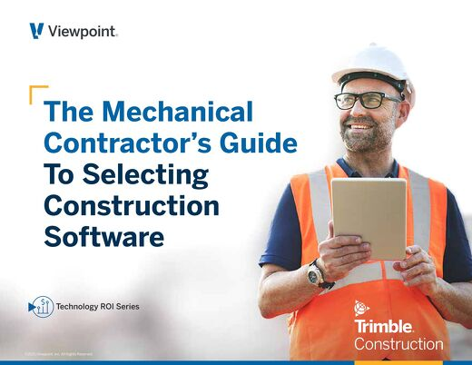 The Mechanical Contractor's Guide to Selecting Construction Software