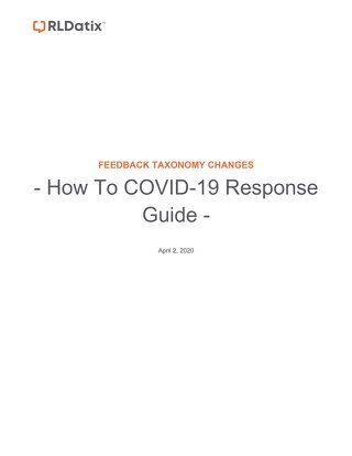 RL6: How to use Feedback for COVID-19