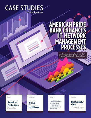 American Pride Bank Enhances IT Network Management Processes