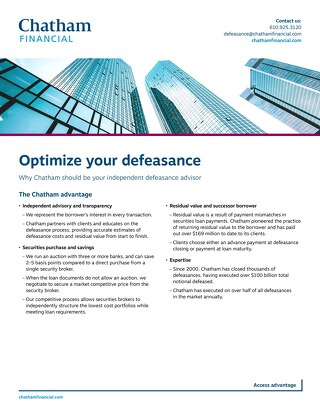 Optimize your defeasance