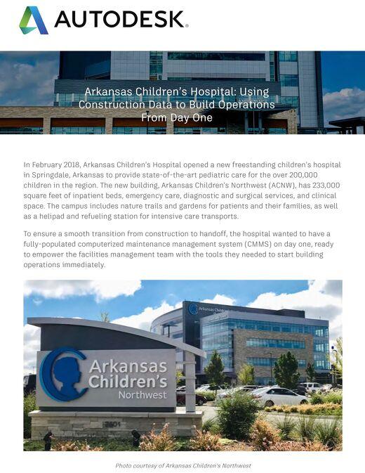 Arkansas Childrens Hospital Case Study BIM 360 Ops