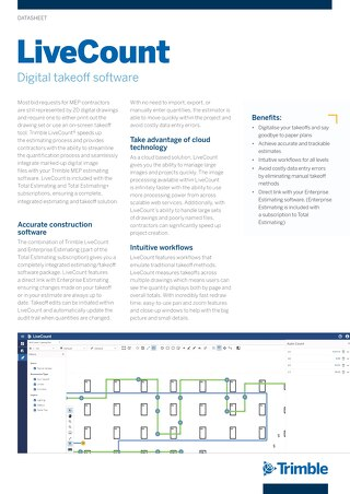 LiveCount Datasheet (UK)