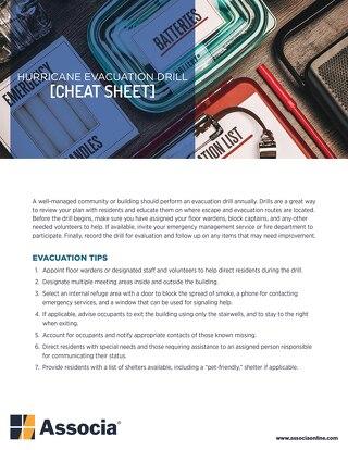 Hurricane Evacuation Drill Cheat Sheet