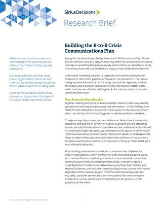Building the B2B Crisis Communications Plan