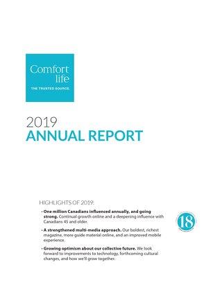2020 Comfort Life Annual Report
