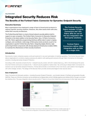 Integrated Security Reduces Risk