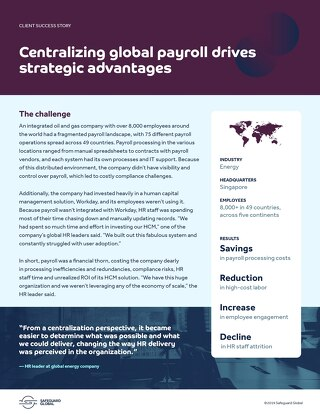 Centralizing global payroll drives strategic advantages