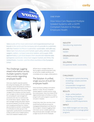 EHS Success Story: Volvo Cars
