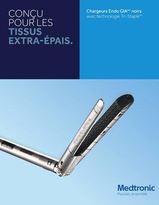 CONÇU POUR LES TISSUS EXTRA-ÉPAIS - Chargeurs Endo GIA noirs avec technologie Tri-Staple