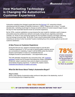 How Marketing Technology is Changing the Automotive Customer Experience