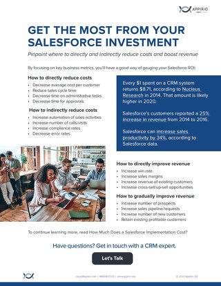 CRM Investment ROI One-Pager