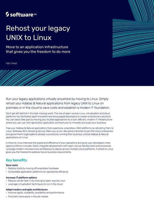 Rehost your legacy UNIX® to Linux®