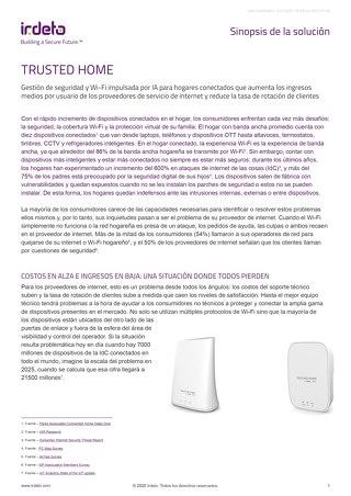 Resumen de la solución: Trusted Home de Irdeto y Minim