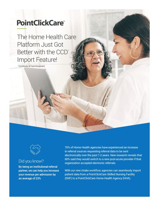 SNF to Home Health Care CCD Import