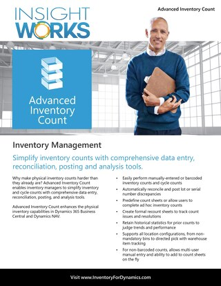 Insight Works Advanced Inventory Count