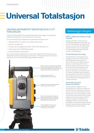 Trimble SPSX30 Universal Total Station Datasheet - Norwegian