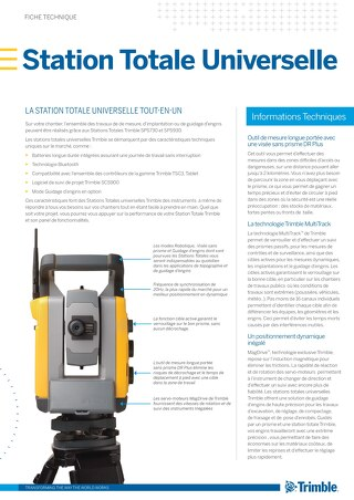Trimble SPSX30 Universal Total Station Datasheet - French
