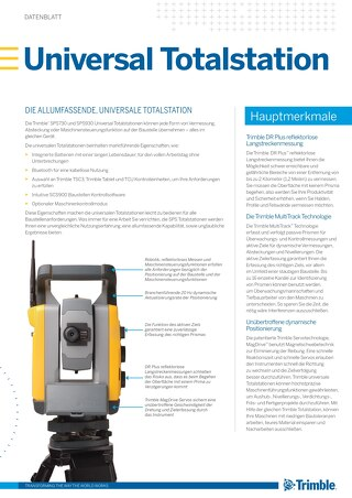 Trimble SPSX30 Universal Total Station Datasheet - German