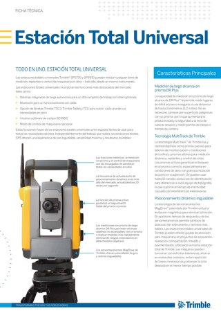 Trimble SPSX30 Datasheet - Spanish