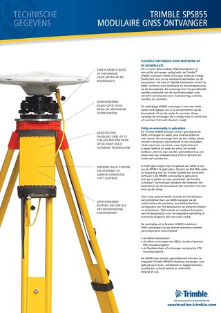 Trimble SPS855 Datasheet - Dutch