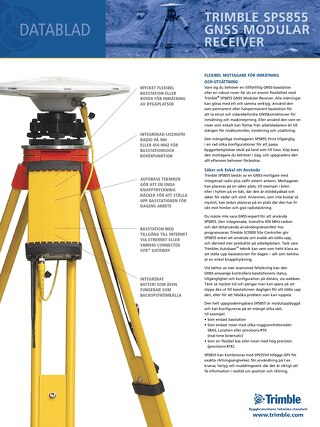 Trimble SPS855 Datasheet - Swedish