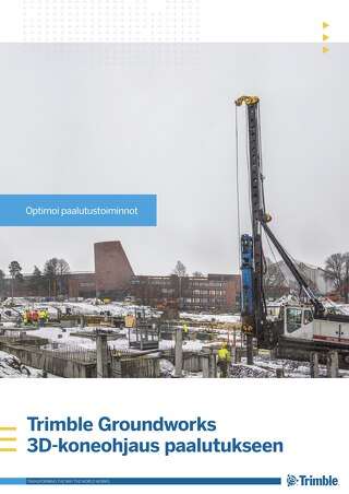 Trimble Groundworks - Piling Brochure - Finnish