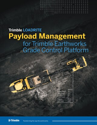 Trimble LOADRITE Payload Management for Trimble Earthworks Grade Control Platform Datasheet - English