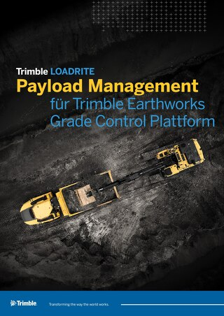 Trimble LOADRITE Payload Management for Trimble Earthworks Grade Control Platform - German