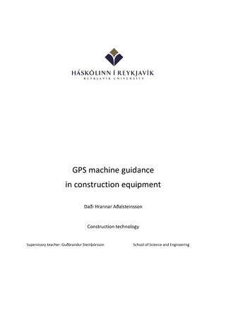 Productivity Report GPS For Excavators 2008 White Paper - English