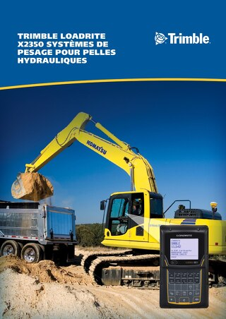 Trimble LOADRITE X2350 Brochure - French