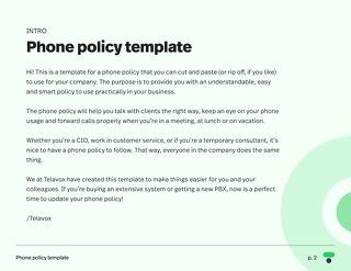 Telephone policy